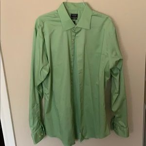 Arrow fitted long sleeve dress shirt